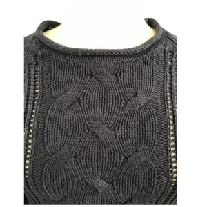 Olive + Oak Navy Cable Knit Sweater